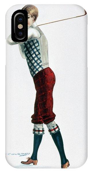 Golf iPhone Case - Golfer, C1920 by Granger