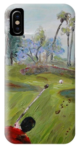 Golfing At Monarch IPhone Case
