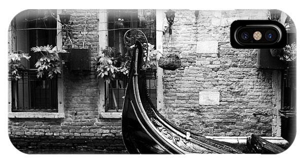 Gondola In Venice Bw IPhone Case