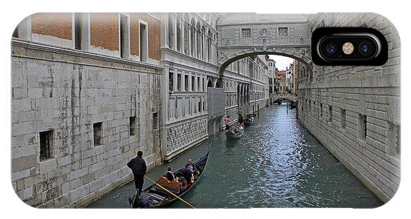 Gondolas Under Bridge Of Sighs IPhone Case