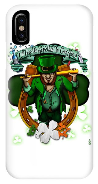 St. Patricks Day iPhone Case - Good Luck by Steve Hartwell