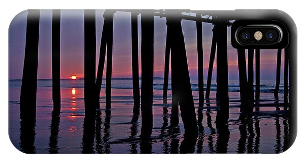 Orchard Beach iPhone Case - Good Morning Old Orchard Silhouette   by Betsy Knapp