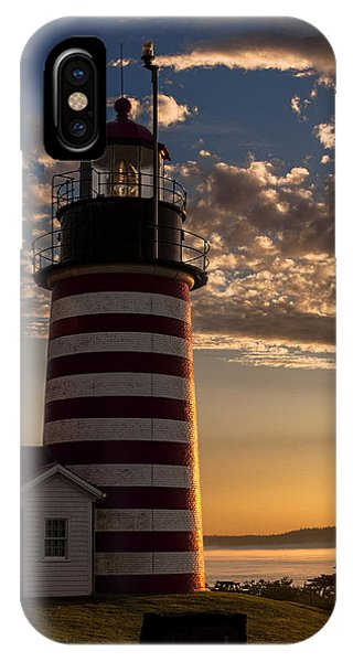 Good Morning West Quoddy Head Lighthouse IPhone Case