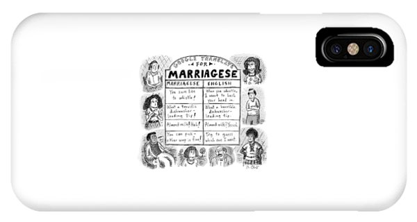 Google Translate For Marriagese -- Translated IPhone Case