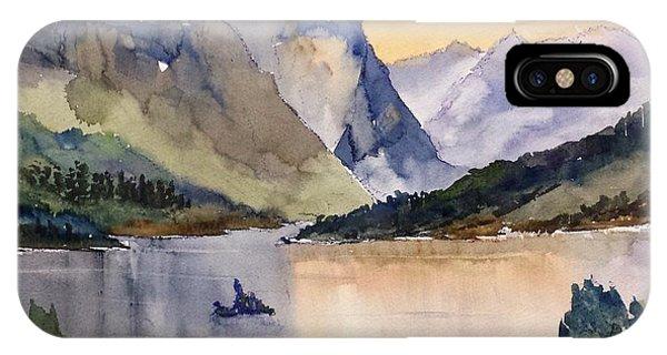 Goose Island Glacier National  Park IPhone Case
