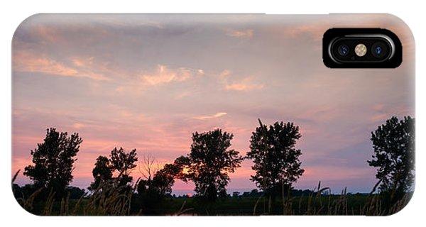 Goose Lake Prairie Sunset IPhone Case