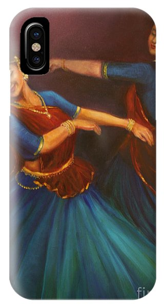 Gopis Dancing To The Flute Of Krishna IPhone Case