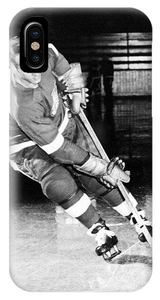 Gordie Howe Skating With The Puck IPhone Case