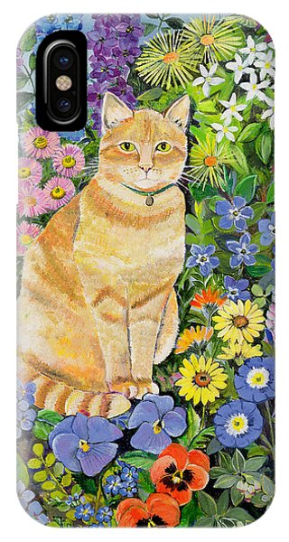 Garden iPhone X Case - Gordon S Cat by Hilary Jones