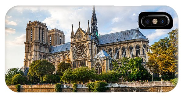 Gorgeous Sunset Over Notre Dame Cathedral IPhone Case
