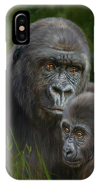 Gorilla And Baby IPhone Case