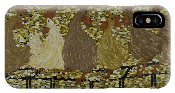 Gossiping Chickens IPhone Case