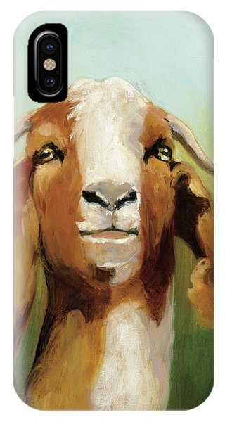 Goat iPhone Case - Got Your Goat V2 by Julia Purinton