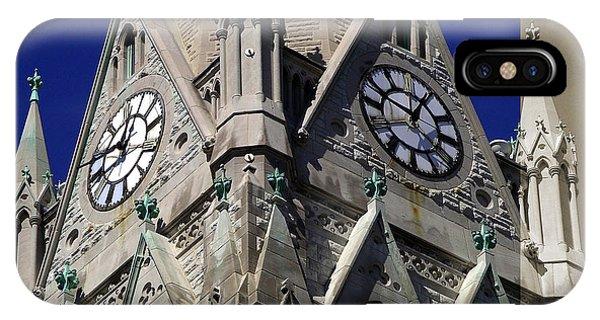 Gothic Church Clock Tower Spire IPhone Case
