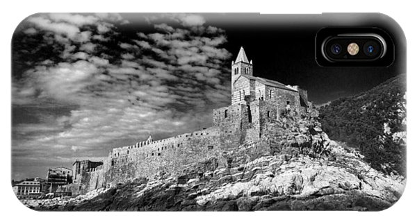 Gothic Church Of St. Peter Porto Venere Italy IPhone Case