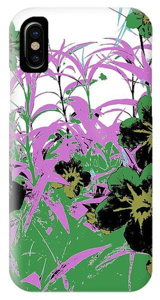 Gothic Garden Green IPhone Case