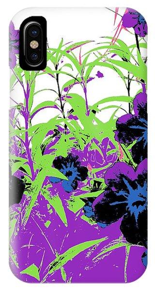 Gothic Garden Orchid IPhone Case