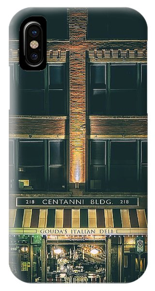 Old Building iPhone Case - Goudas Italian Deli Color by Scott Norris