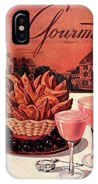 Gourmet Cover Featuring A Basket Of Potato Curls IPhone Case