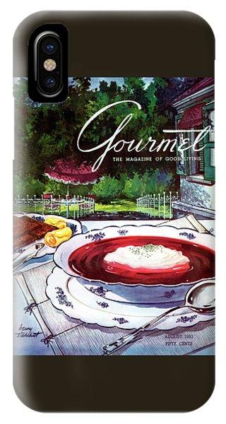 Gourmet Cover Featuring A Bowl Of Borsch IPhone Case