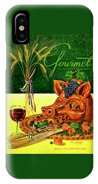 Gourmet Cover Featuring A Pig's Head On A Platter IPhone Case