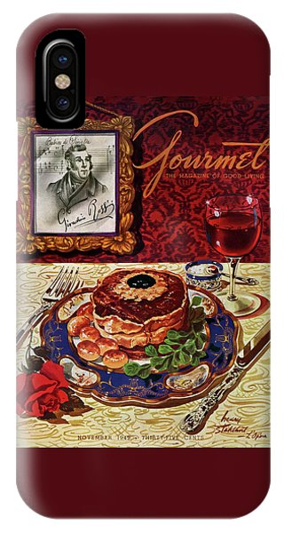 Gourmet Cover Featuring A Plate Of Tournedos IPhone Case