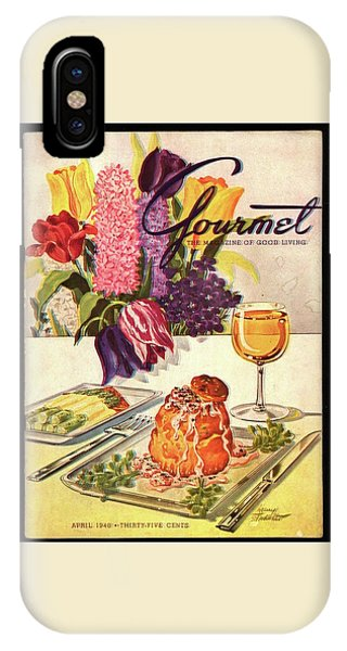 Gourmet Cover Featuring Sweetbread And Asparagus IPhone Case