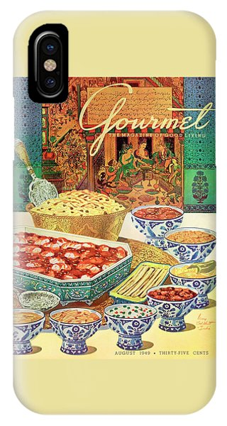Gourmet Cover Featuring Various Indian Dishes IPhone Case