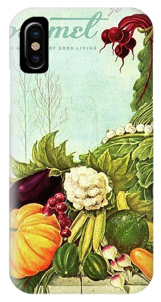 Gourmet Cover Illustration Of A Cornucopia IPhone Case