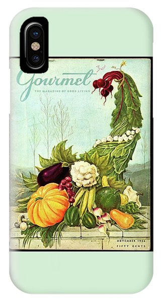 Magazine Cover iPhone Case - Gourmet Cover Illustration Of A Cornucopia by Hilary Knight