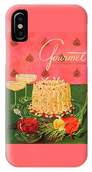 Magazine Cover iPhone Case - Gourmet Cover Illustration Of A Molded Rice by Henry Stahlhut