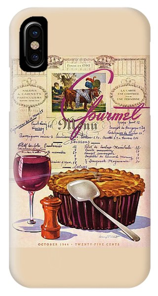 Menu iPhone Case - Gourmet Cover Illustration Of Deep Dish Pie by Henry Stahlhut