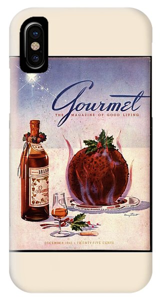 Gourmet Cover Illustration Of Flaming Chocolate IPhone Case