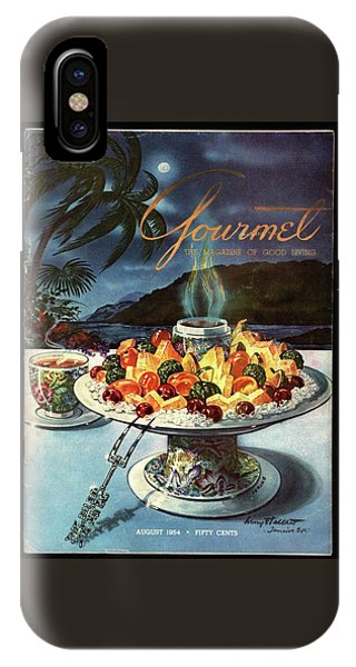 Magazine Cover iPhone Case - Gourmet Cover Illustration Of Fruit Dish by Henry Stahlhut