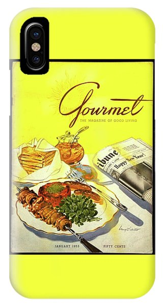 Gourmet Cover Illustration Of Grilled Breakfast IPhone Case