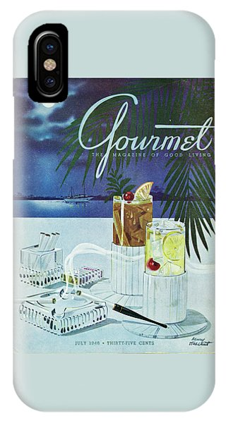 Gourmet Cover Of Cocktails IPhone X Case