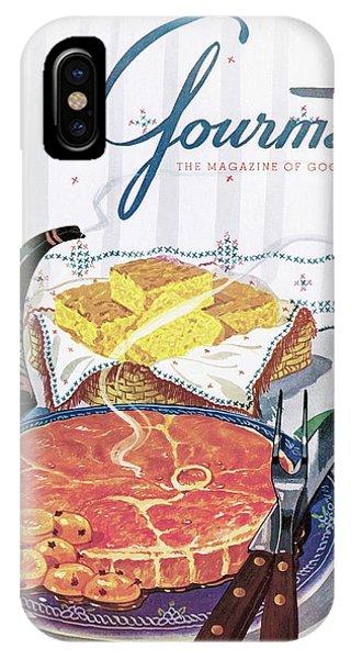 Gourmet Cover Of Ham And Cornbread IPhone Case
