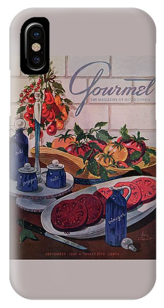 Gourmet Cover Of Tomatoes And Seasoning IPhone Case