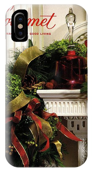 Gourmet Magazine Cover Featuring Christmas Garland IPhone Case