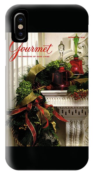 Magazine Cover iPhone Case - Gourmet Magazine Cover Featuring Christmas Garland by Romulo Yanes