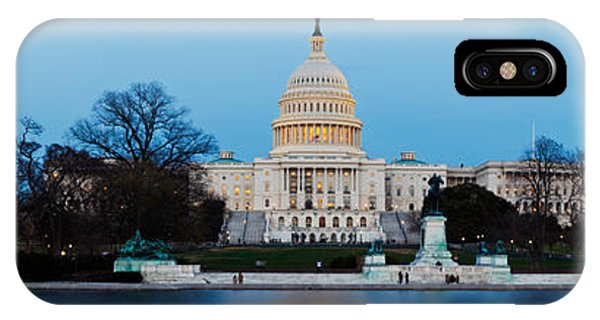 Capitol Building iPhone Case - Government Building At Dusk, Capitol by Panoramic Images