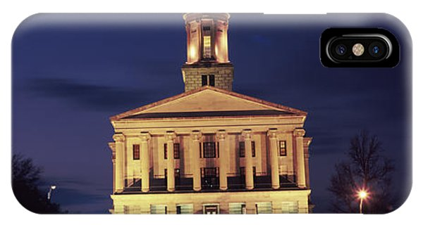 Capitol Building iPhone Case - Government Building At Dusk, Tennessee by Panoramic Images
