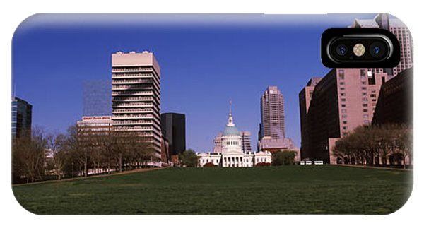 Capitol Building iPhone Case - Government Building In A City, Old by Panoramic Images