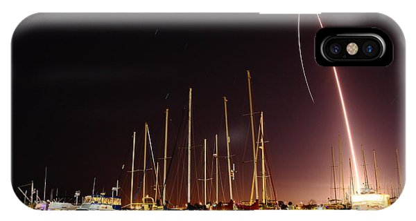 Gps Launch Over The Marina Phone Case by John Moss