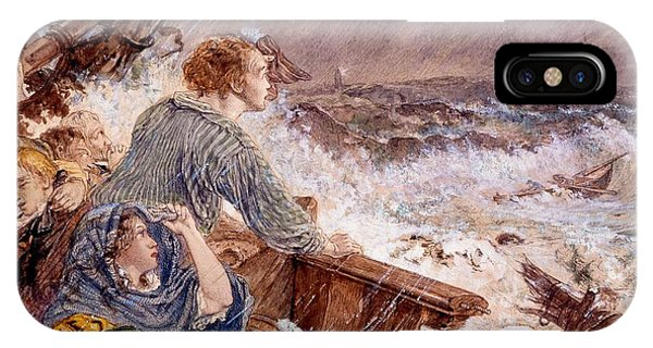 Shipwreck iPhone Case - Grace Darling And Her Father Saving by William Bell Scott