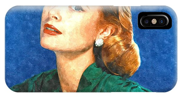 Grace Kelly Painting IPhone Case