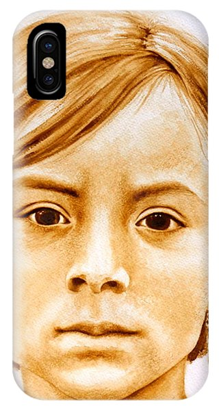 Native American Spirit Portrait iPhone Case - Gracie by Julee Nicklaus
