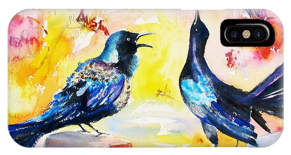 Grackles And Graffiti  IPhone Case