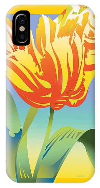 Gradient Parrot IPhone Case