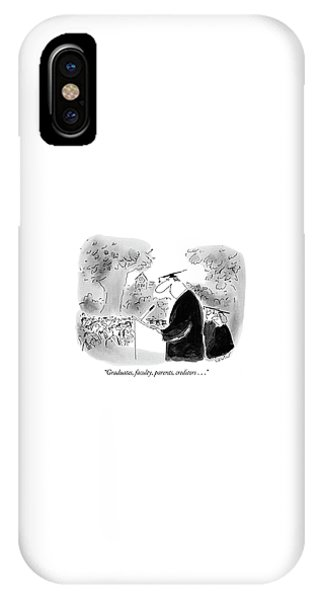 Debts iPhone Case - Graduates, Faculty, Parents, Creditors by Arnie Levin